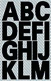 Z-Design Étiquettes lettres et chiffres à coller Lettres schwarz | wetterfeste Folie | 30 Etiketten