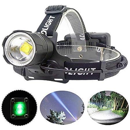 WESLITE 10000 Lumenes Linterna Frontal LED Alta Potencia Ultra Brillante Linterna Cabeza para Trabajo con Zoom 3 modos para Pesca C/ámping Trabajos de Construcci/ón XHP70 Linterna Frontal Recargable