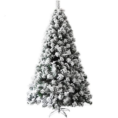MIMI KING Arbre De Noël Artificiel A Afflué Neige Arbre De Noël pour Les Vacances Nouvel an Décor Intérieur Extérieur,6.9Ft