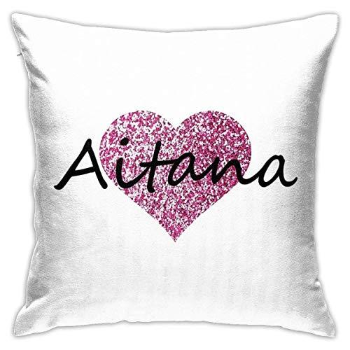Funda de Almohada de Microfibra Ultra Suave, Fundas de cojín Aitana, Almohada Decorativa para sofá, Dormitorio, Funda de Almohada de 18 x 18 Pulgadas