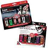 Fright Fest Halloween Makeup Kit & Day of the dead makeup Gift sets (2 Pack) Halloween face...