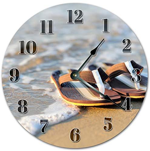 Alfery33red - Reloj de pared (30,5 cm, 30,5 cm), diseño de zapatillas en la tienda