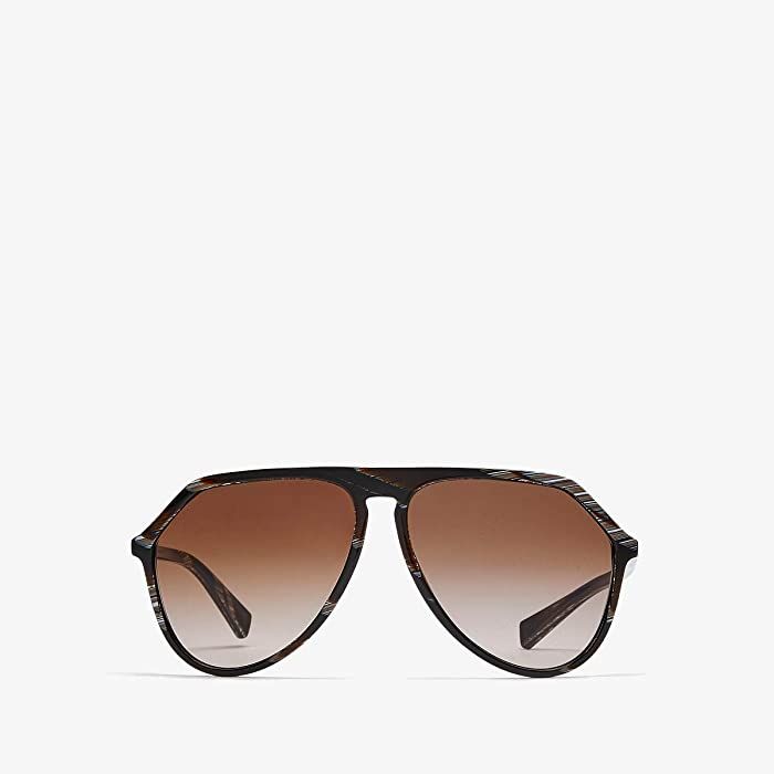 Dolce and Gabbana  DG4341 (Brown Horn/Brown Gradient) Fashion Sunglasses