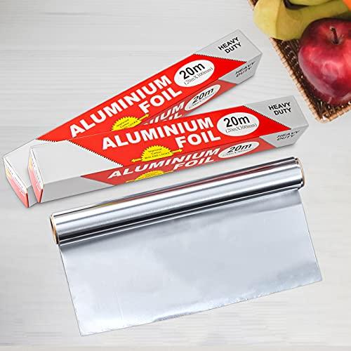60 meter aluminiumfolie: antikleef-aluminiumfolie keukenkok folierol 30 cm aluminium-zilverfoliewikkels in overlengte ideaal voor het grillen bakken catering en verpakken van levensmiddelen