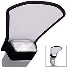 SUPON Flash Speedlite Diffuser softbox Silver/White Reflector for Canon Nikon Pentax Yongnuo and Other and All Speedlight Flashes