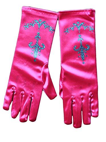 MSC Handschuhe Prinzessin Anna Eiskönigin mit Glitzer Kostüm