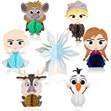 Ticiaga 7pcs Frozen Honeycomb Centerpieces, Table Topper for Girls Birthday Party Decoration, Double Sided...