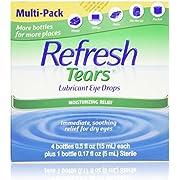 Refresh Tears Lubricant Eye Drops (4 x .5 fl oz and 1 x .17 fl oz. bottles)