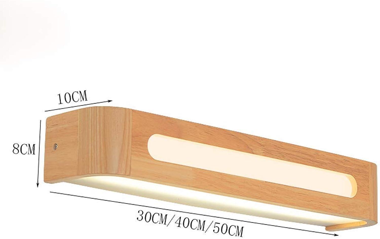 AOLI Tischleuchte Einfache Nordic Massivholz Wandleuchte, Treppenhaus Gang Persönlichkeit Wandleuchte, Schlafzimmer Nachttischlampe LED Badezimmer Spiegel Scheinwerfer Wohnzimmer Lampe B07JB9HF6H | Viele Stile