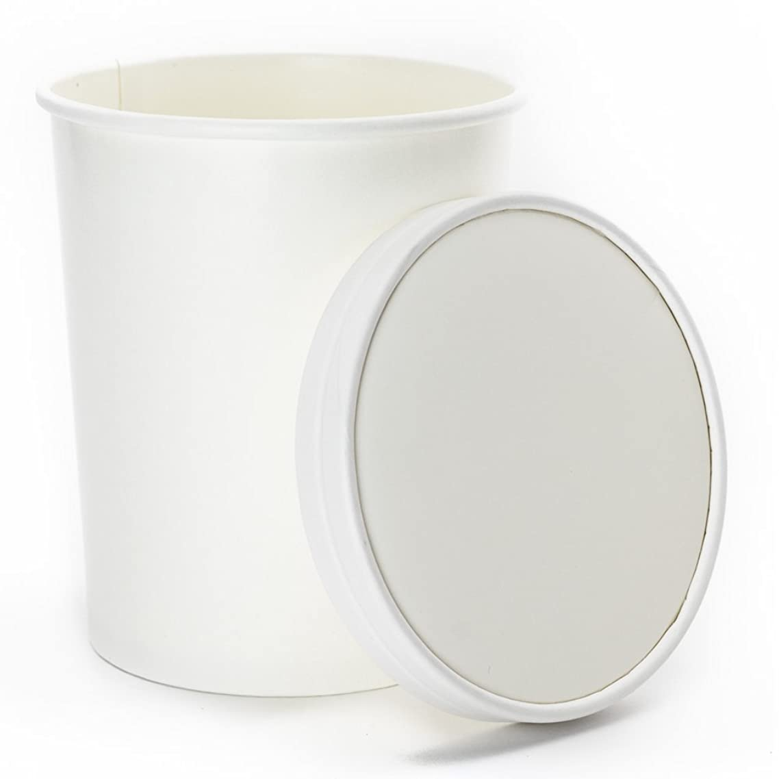 32 oz Freezer Containers And Lids - With Non-vented Lids to Prevent Freezer Burn - Durable Heavy Duty Quart Ice Cream Containers! Fast Shipping - Frozen Dessert Supplies - 25 Count