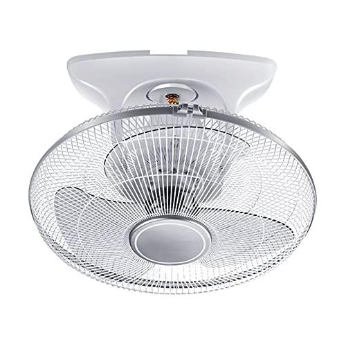LLKK Ventilador de Techo de 16 Pulgadas Dormitorio en el hogar silencioso silencioso Ventilador eléctrico Cabeza de Sacudida de Tres Hojas Ventilador de Techo de Cobre Puro