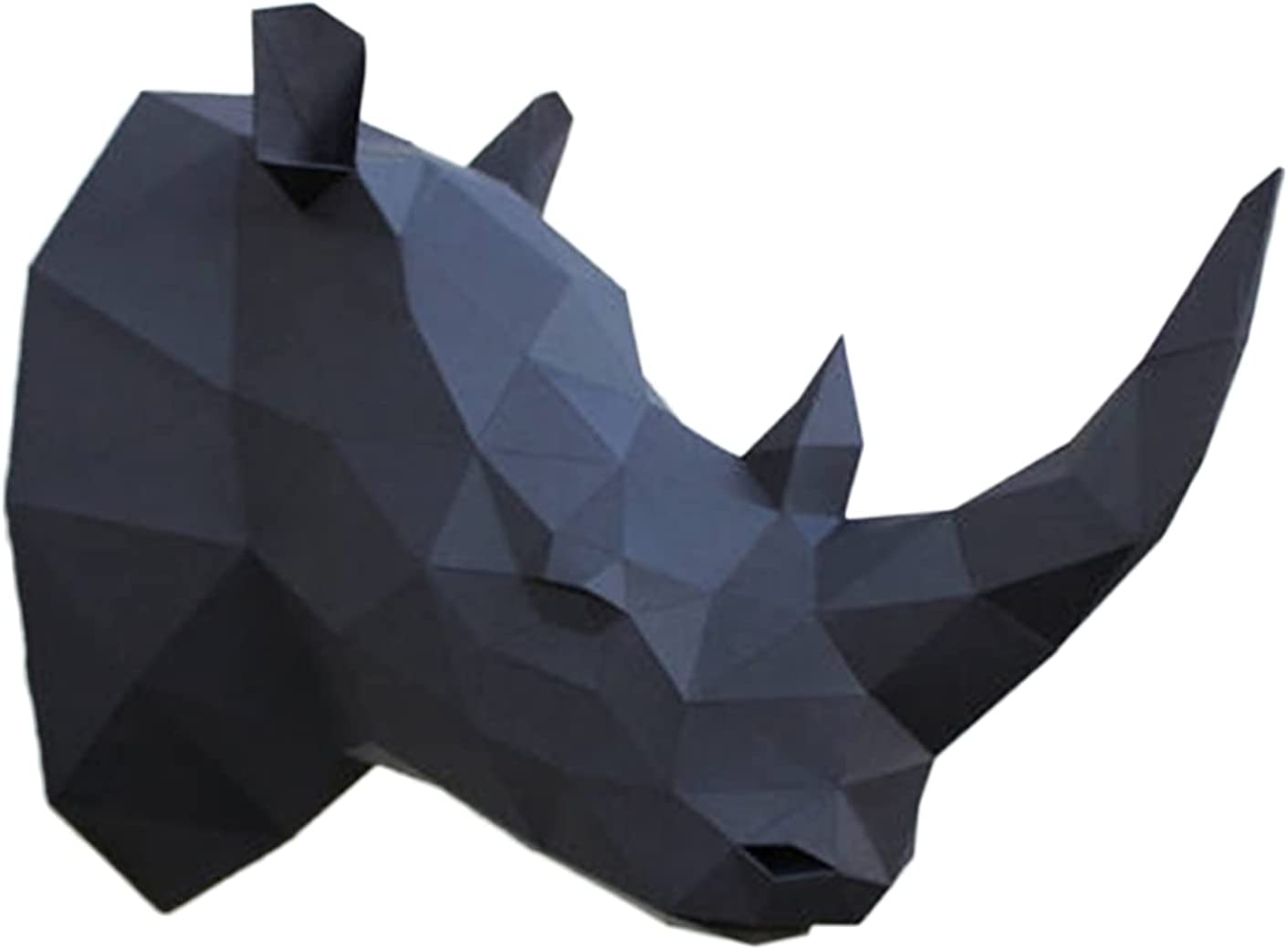 WLL-DP Rhino Head New mail order 3D Paper Puzzle Origami Trophy Cre Model Ranking TOP20