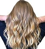 Easyouth Clip sur de Vrais Cheveux Humains pour les Femmes 18 pouces 80g par...