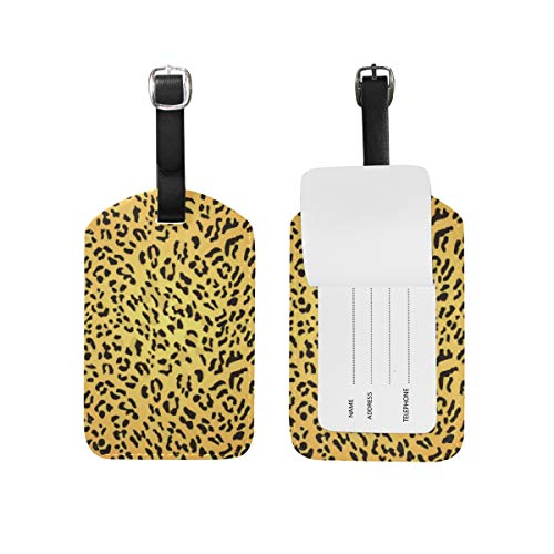 Chic Houses Cute Animal Pattern Sexy Leopard Travel Labels Luggage Tag Beautiful Fashion Name Card Holder for Baggage 2031224