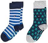Tommy Hilfiger Girls TH Kids 2P Stars and Stripes Socks, Forever Blue, 35/38 (2er Pack)
