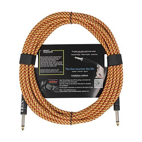 OUYAWEI 6M Kabel Gitaar Aansluitlijn Muziekinstrument Accessoires Orange 6 meters