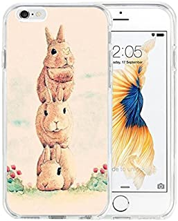 Dseason iPhone 6S Case, Apple iPhone 6/6s Case Laser Technology Printing Fashionable Protector Three cute little bunny