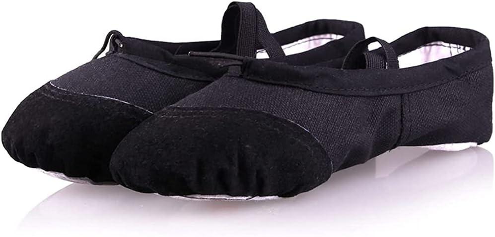 PINGZG Ballet Shoes Women,Ballet Dance Shoes Split Sole Flat Gymnastics Dancing Slippers (Color : Black, Size : 26 EU)