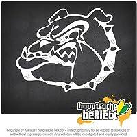ブルドッグのシンボル - ファイティングドッグ Bulldog symbol - Fighting dog 12,5cm x 10cm 15色 - ネオン+クロム! ステッカービニールオートバイ