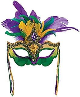 Mardi Gras Party Feather Venetian Mask