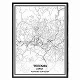 Victoria Texas Estados Unidos Mapa de pared arte lienzo impresión cartel obra de arte sin marco moderno mapa en blanco y negro recuerdo regalo decoración del hogar