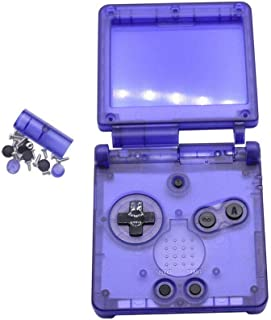 Meijunter Transparent Clear Full Housing Shell Case Repair Parts Kit for Nintendo Gameboy Advance SP GBA SP Console