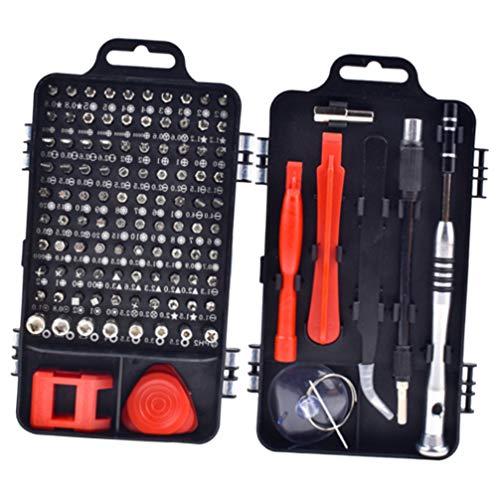 Conjunto de chaves de fenda magnéticas 110 peças 110 em 1 da Scicalife, conjunto com capa para celular, computador, PC, relógio óculos, eletrônico, mini ferramentas de reparo manual