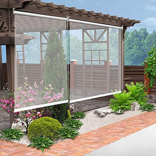 HYDT Store en bambou Gartenpavillon im Freien Durchsichtige Rollläden, Trennwand Regenfeste Staubdichte Rollläden mit Armaturen, Size : 80×120cm(31.5 in×47 in)