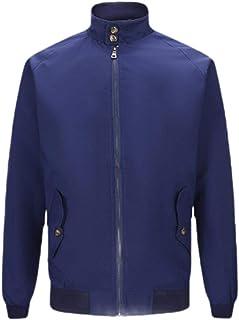 RkBaoye Men's Stylish Solid Color Non-Iron Full-Zip Slim Fit Jacket Coat