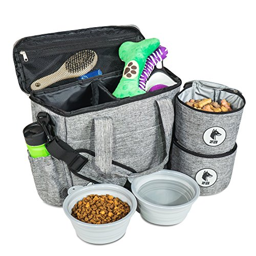 Top Dog Travel Bag - Airline Approved Travel Set for Dogs Stores All...