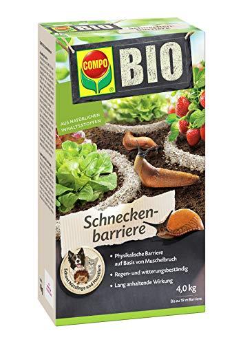 COMPO BIO Schneckenbarriere, Barriere aus Muschelkalk zur Abwehr von Schnecken, 4 kg