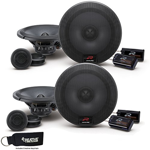 Alpine R-S65C Bundle - Two Pairs of Alpine R-S65C 6.5 Inch Component 2-Way Speakers