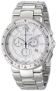 Versace Men's VFG090014 MYSTIQUE SPORT Analog Display Quartz Silver Watch image