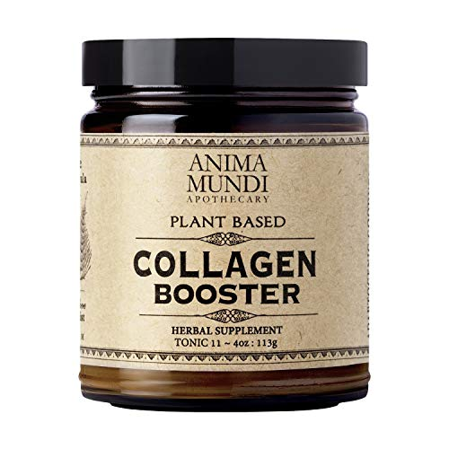 Anima Mundi Plant Based Collagen Booster Powder - Organic Adaptogenic Beauty Supplement for Skin, Hair + Nails, Vegan + Gluten-Free Collagen Boosting Formula