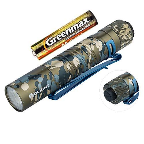 Olight I5T EOS Taschenlampe 300 Lumen / 60 Meter Kühle weiße LED Heckschalter EDC-Taschenlampe, mit AA Batterie (Tarnung)