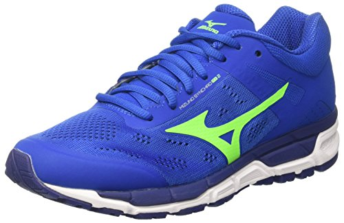 Mizuno Synchro Mx, Herren Joggingschuhe, Mehrfarbig - Multicolore (NauticalBlue/GreenGecko/BlueDepths) - Größe: 41 EU