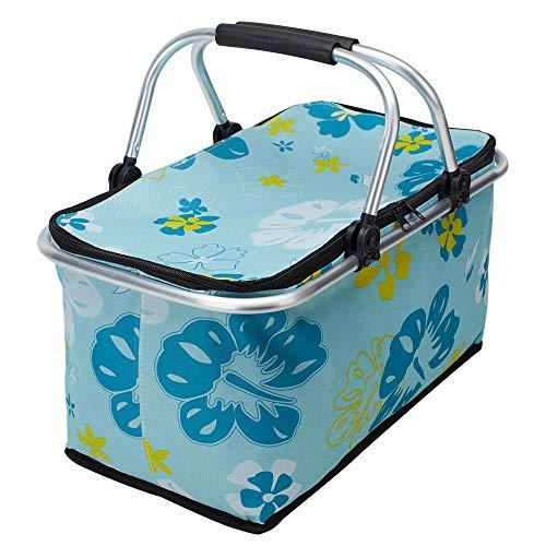 Kingmate Faltbare Picknickkörbe Große Kapazität Zusammenklappbare Kühltasche Isoliertasche Einkaufstasche Frischtasche Thermotasche für Outdoor Picknick Reise