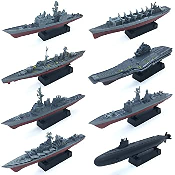 8 Sets 3D-Puzzle Model Battleship Aircraft Carrier Toy Submarine Plastic Model Warships Ship Kits Navy Ship Battleship Models for Collection by Kvvdi