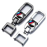 Car Logo Key Chain Key Ring for BMW M 3 5 4 7series x5 x3 x4 x6 x7 x1 Keychain Keyring Series Business Gift Birthday Present for Men and Woman Pack of 2