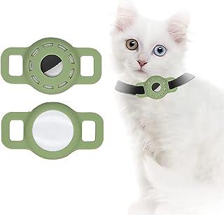 Airtag Siliconen Hoesje voor Huisdier Halsband, Airtag Case met Beschermende HD High Clear Film, Verstelbare Draagbare GPS...