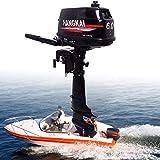 HANGKAI Outboard Motors,HANGKAI 6HP 2 Stroke Heavy Duty Outboard Motor Boat Engine w/Water Cooling System