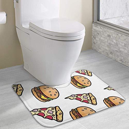 Hoklcvd Pizza Burger Rutschfeste Kontur Badematte für WC, saugfähiges Wasser Perfekt für Badezimmer. Kaufen Sie online Badematten zu den besten Preisen