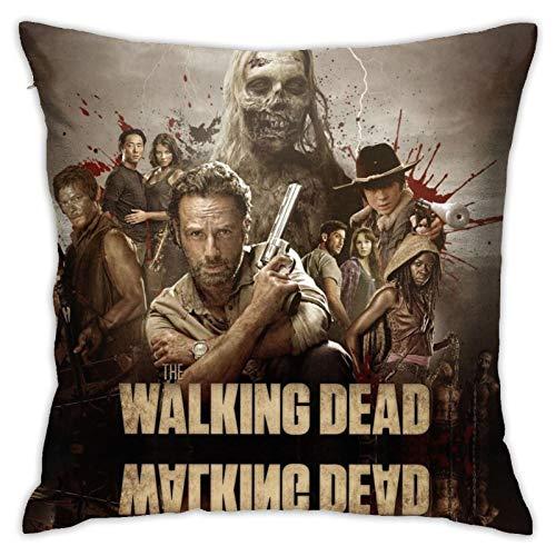 Una nuova frontiera zombies Daryl Dixon Eugene The Wal-king De-ad Magic, federa per cuscino per cameretta dei bambini, set di compleanno,con ricambio 114,3 x 114,3 cm