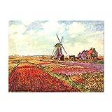 Kunstdruck Poster - Claude Monet Tulpen von Holland 30x20cm