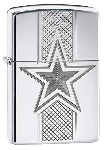 Zippo NFL Dallas Cowboys Armor High Polish Chrome Collectible Pocket Lighter, One Size