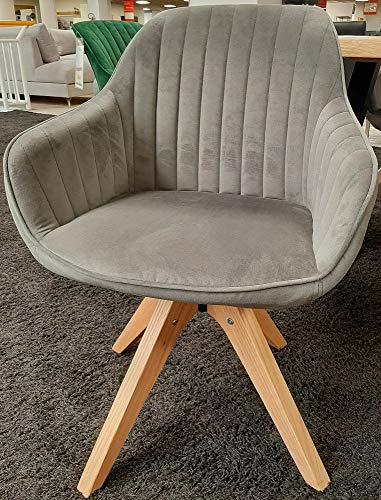 Gutmann Limited Sessel Chill Stoff Massivholz Natur Wohnzimmer Esszimmer (370/27 - Grau)