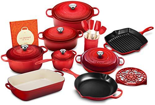 Le Creuset 20-piece Signature Cast Iron Cookware Set (Marseille)