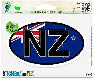 NZ New Zealand Flag Oval Car Sticker Indoor Outdoor 5