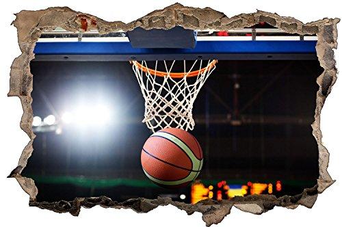 Korb Basketball Sport Spiel Wandtattoo Wandsticker Wandaufkleber D0619 Größe 40 cm x 60 cm