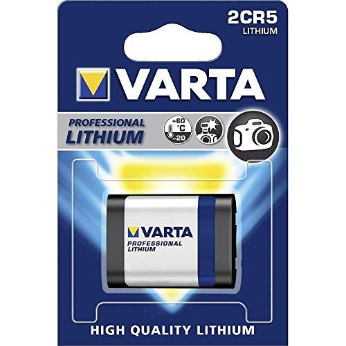 Varta 2 CR5 Nicht wiederaufladbare 6-V-Lithium-Batterie, Nicht wiederaufladbare Batterien (Lithium, 6V, 1600 mAh, 17 mm, 34 mm, 45 mm)